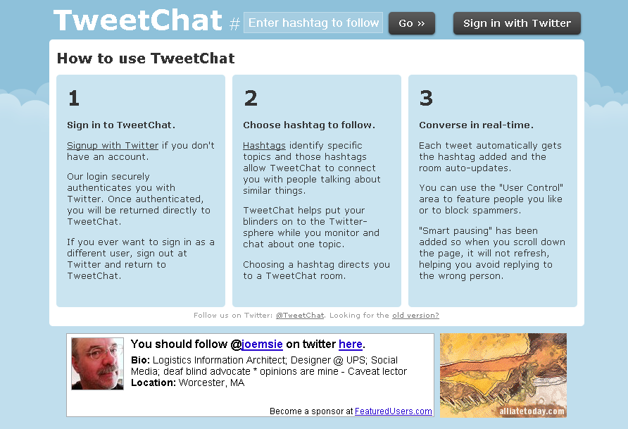 TweetChat - Click to visit