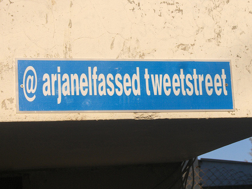 First Street Named After a Twitter Name