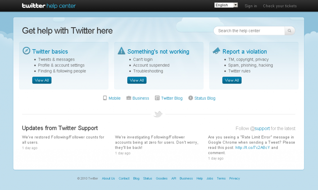 Twitter Help Center